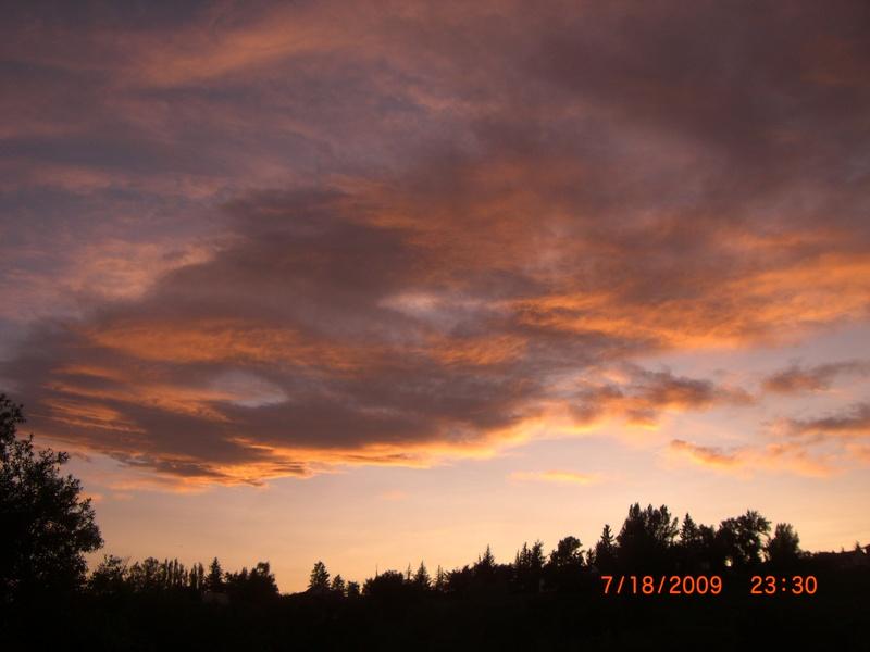 Sunset in Cardston, Alberta